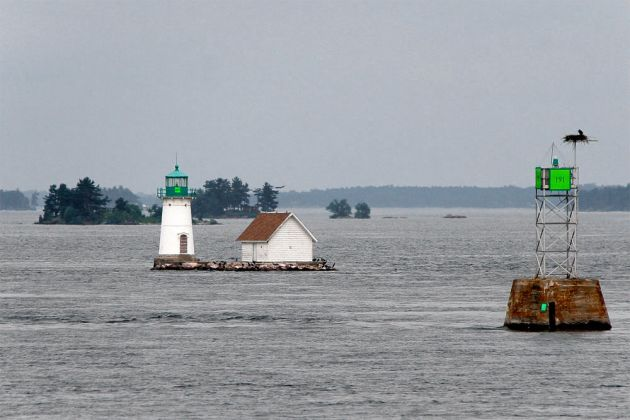 Lighthouse im St. Lorenz Strom - 1000 Islands