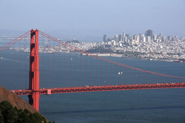 San Francisco Panorama und Golden Gate Bridge - Golden Gate Bridge View Point