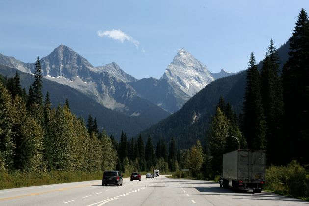 Trans-Canada-Highway - Rocky Mountains in Alberta
