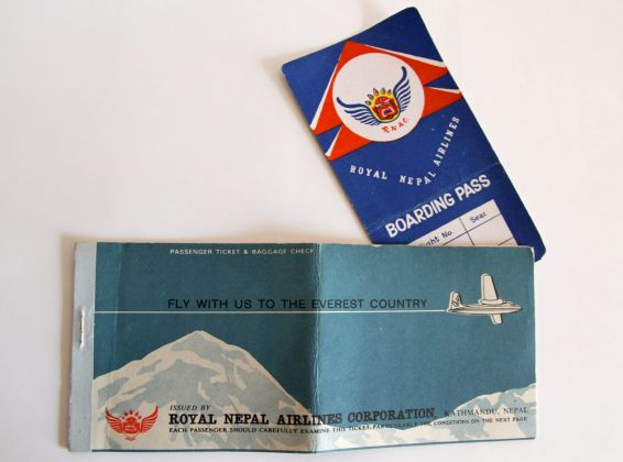 Flying through the Air - with Royal Nepal Airlines