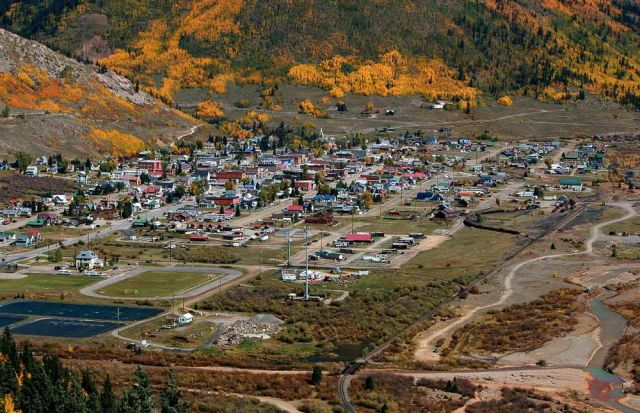 Silverton, Colorado - Panorama-Blick vom Million Dollar Highway aus